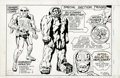 """Original Comic Art:Panel Pages, Jack Kirby and Mike Thibodeaux - """"Ranger Combat Corps"""" Character Design Illustration Original Art (1981). Jack Kirby's years..."""
