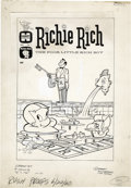 Original Comic Art:Covers, Warren Kremer and Sid Couchey - Richie Rich the Poor Little RichBoy #1 Cover and Complete Stories Original Art (Harvey, 1960)...