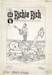 Warren Kremer and Sid Couchey - Richie Rich the Poor Little Rich Boy #1 Cover and Complete Stories Original Art (Harvey...