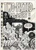 Original Comic Art:Covers, Harvey Kurtzman - Two-Fisted Tales #22 Cover Original Art (EC,1951). Scratch dirt, heroes! Here's one of the all-time class...