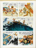 "Original Comic Art:Panel Pages, Harvey Kurtzman, Bill Elder, Frank Frazetta, and Jack Davis -Playboy, July 1965, Little Annie Fanny, ""Surfers,"" page 4 Origin..."