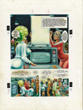 "Original Comic Art:Splash Pages, Harvey Kurtzman and Bill Elder - Playboy, December 1981, LittleAnnie Fanny, ""Computers,"" Splash Page 1 Original Art (Playboy,..."