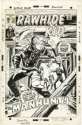 Original Comic Art:Covers, Larry Lieber - Rawhide Kid #73 Cover Original Art (Marvel, 1969).Seems like that Rawhide Kid is always bein' chased by so...