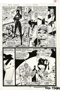 Todd McFarlane - Amazing Spider-Man #300 page 43 Original Art (Marvel, 1988). After a long, hard, battle Spidey has knoc...