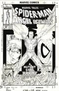 Original Comic Art:Covers, Todd McFarlane - Marvel Tales #229 Cover Original Art (Marvel,1989). Spider-Man, teams up with X-Men, Angel, and Iceman, in...