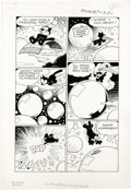 Original Comic Art:Panel Pages, Otto Messmer - Felix the Cat #23 Page Original Art, Group of 13(Toby Press, 1951). Felix rides his magic carpet to the land...(Total: 13 Items)