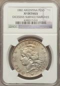 Argentina, Argentina: Republic Peso 1882 XF Details (Excessive SurfaceHairlines) NGC,...