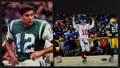 Football Collectibles:Photos, Joe Namath and Eli Manning Signed Photographs Lot of 2....
