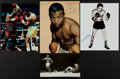 Boxing Collectibles:Autographs, Boxing Greats Signed and Unsigned Photographs Lot of 4....