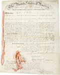 Autographs:U.S. Presidents, Andrew Jackson Letters Patent Signed....