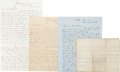 Autographs:Military Figures, [Battle of Olustee]. Collection of Four Documents...