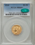 1910 $2 1/2 MS64+ PCGS. CAC. PCGS Population: (490/144 and 27/8+). NGC Census: (782/209 and 19/11+). CDN: $925 Whsle. Bi...