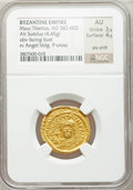 Ancients:Byzantine, Ancients: Maurice Tiberius (AD 582-602). AV solidus (4.45 gm)....