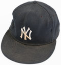 Baseball Collectibles:Hats, 1990's Whitey Ford New York Yankees Old Timers' Day Signed Cap. ...