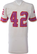 Football Collectibles:Uniforms, 1974 James McAlister Game Worn Southern California Sun WFL Jersey, MEARS A8....