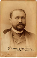 Photography:Cabinet Photos, Frederick Grant Cabinet Card Signed...
