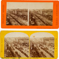 Photography:Stereo Cards, Grant's Second Inauguration Parade: Two Stereoviews....
