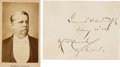 Photography:CDVs, Winfield Scott Hancock: Signed Card and Carte de Visite....