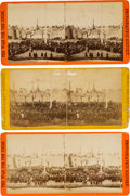 Photography:Stereo Cards, Fort Sumter: Three Stereoviews from an 1865 Flag Raising... (Total: 3 )