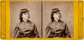 Photography:Stereo Cards, Union Spy Pauline Cushman (in military uniform) Stereoview....