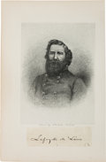 Autographs:Military Figures, Confederate General Lafayette McLaws Clipped Signature....