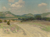 JULIAN ONDERDONK (American, 1882-1922) Adobe Road & Wild Quinine, Williams Ranch, Medina Oil on canv