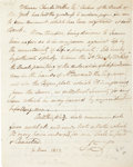 Autographs:Artists, [Declaration of Independence]. John Trumbull Autograph DocumentSigned...