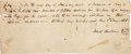 Miscellaneous:Ephemera, [Slavery]. Promissory Note for the Hiring of a Slave....