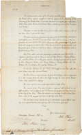 Autographs:Statesmen, [U.S. Currency]. Printed Circular Regarding Currency Paper....