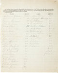 Miscellaneous:Ephemera, [Clement Vallandigham]. Roster of Donors to the Ohio Union....