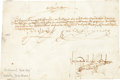 Autographs:Non-American, King Ferdinand and Queen Isabella of Spain Document Signed....