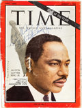 Autographs:Celebrities, Martin Luther King Jr. Time Magazine Cover Signed....