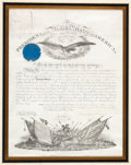 Autographs:U.S. Presidents, Abraham Lincoln Military Appointment Signed....