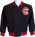 Baseball Collectibles:Others, 1946-47 Chicago Cubs Game Worn #7 Jacket Attributed to Bobby Sturgeon....