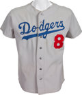 Baseball Collectibles:Uniforms, 1970's John Roseboro Game Worn Los Angeles Dodgers Old Timers' Jersey. ...