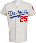 Baseball Collectibles:Uniforms, 1976 Tommy John Game Worn Los Angeles Dodgers Jersey From The First Season After His Famous Surgery. ...