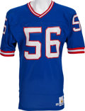 Football Collectibles:Uniforms, 1988 Lawrence Taylor Game Worn, Signed New York Giants Jersey - Loaded With Team Repairs! ...