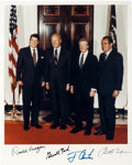 Autographs:U.S. Presidents, Presidential Photograph Signed by Richard Nixon, Gerald Ford, JimmyCarter and Ronald Reagan, circa 1980s....