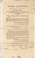 Autographs:Statesmen, [George Washington]. Edmund Randolph Printed Congressional Act Signed...