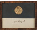 Autographs:Celebrities, Richard E. Byrd Signature and Medal....