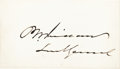 Autographs:Military Figures, Philip Sheridan Signed Card....