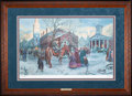 Art, Mort Künstler. Changing of the Pickets (2001). 29x18 inches. AP22of 100. Condition: Very good. Accompanied by certificate o...