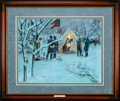 Art, Mort Künstler. Strategy in the Snow (1994). 25x19 inches. AP22 of75. Condition: Very good. Accompanied by certificate of au...