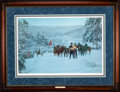 Art, Mort Künstler. Confederate Winter (1989). 28x19 inches. SN802 of950. Condition: Very good. Accompanied by certificate of au...
