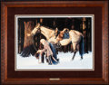 Art, David Wright. A Father's Prayer. 25 x 17 Inches. SN743 of 1200.Condition: Very good. Accompanied by certificate of authenti...