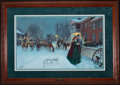 Art, Mort Künstler. The Wayside Farewell (1996). 29 x 17 Inches. AP27 of100. Condition: Very good. Accompanied by certificate of...
