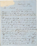 Autographs:Military Figures, [Mexican War]. James Longstreet Autograph Letter Signed....