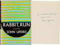 "Books:Literature 1900-up, John Updike. Rabbit, Run. New York: Alfred A. Knopf, 1960.First edition of the first book in the famous ""Rabbit"" se..."