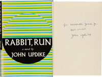 John Updike. Rabbit, Run. New York: Alfred A. Knopf, 1960. First edition of the first book in t