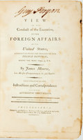 Books:Americana & American History, [Featured Lot]. James Monroe. A View of the Conduct of theExecutive in the Foreign Affairs of the United States,Connec...